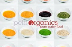 A sampling of baby food provided by Petit Organics.
