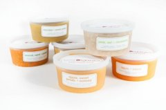 Petit Organics delivers fruit, vegetable and cereal baby foods to New York homes.
